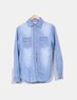 Camisa denim claro desgastado Semaforo Jeans