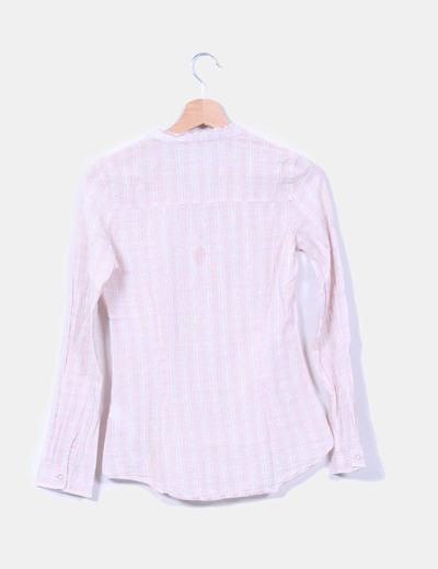 Blusa rosa palo de cuadros con brillo