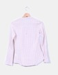 Blusa rosa palo de cuadros con brillo Stradivarius