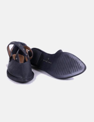 Zara Chaussures noires avec boucle (réduction 72%) - Micolet bba4cec2258c