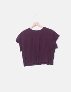 5eeface5a0ffc Crop top eggplant color H M