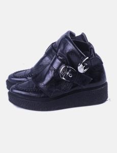 e75be00f5d3 Botín negro con hebillas Zara