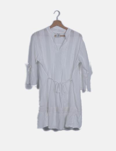 Vestido camisero mini blanco