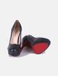 Zapatos pump negro texturizado Elunita
