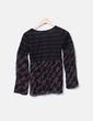 Suéter combinado seda marrón TMX