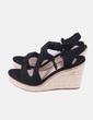 Sandales sparterie noir compensées Oysho