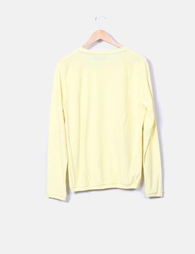 Sueter tricot largo amarillo