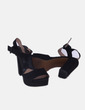 Sandalias negras Stradivarius