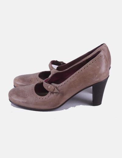 Zapato beige con tacón Db bosettini