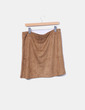 Minifalda de antelina camel Amichi