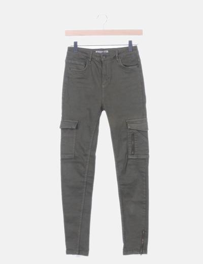 Jeans cargo verde