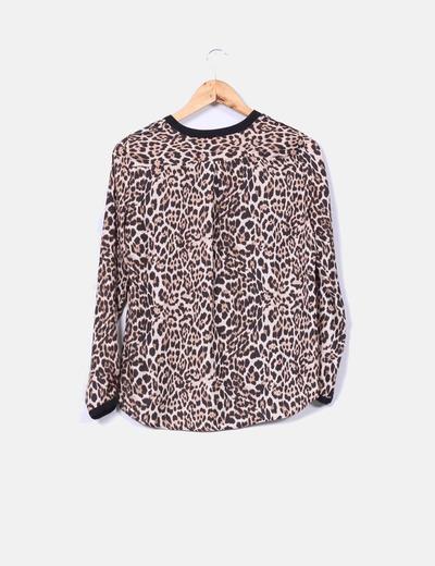 Camisa saten animal print