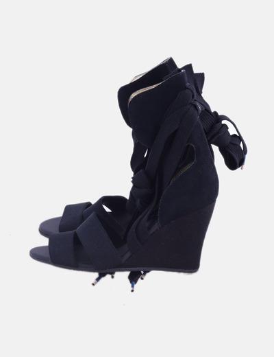 Sandalias lace up negras