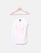 Blusa rosa palo con volantes H&M