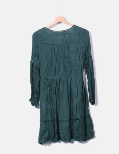Vestido verde manga larga