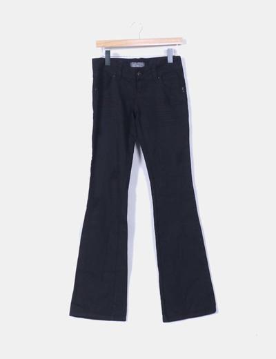 Pantalón denim campana negro  Pull&Bear
