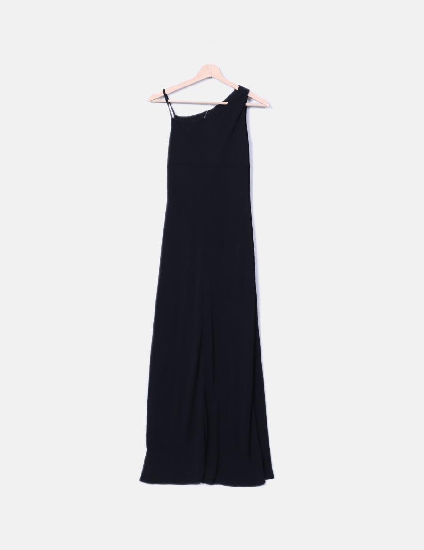 60dcce2c1f ... baratos Vestido tirantes Algodón online Vestidos Don maxi asimétricos  negro ffrqg0