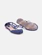 Sandales plates bleues Stradivarius