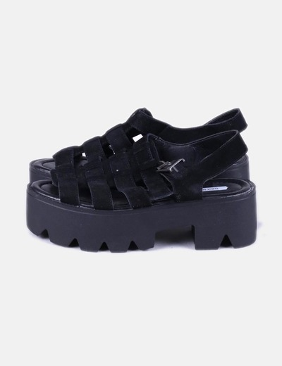 zapatos de separación b6249 65e86 Sandalias negras plataforma truck