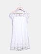 Robe blanc pompons en dentelle Ciao Milano