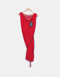 Vestido midi Carmela Rosso