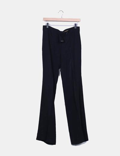 Pantalon vestir recto negro Caramelo