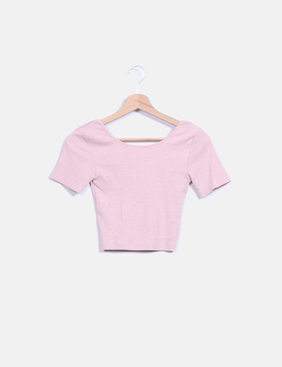 Crop top rosa palo  Stradivarius