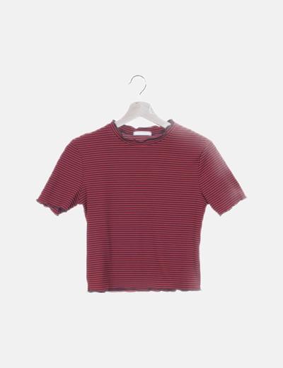 Camiseta tricot rayas bicolor