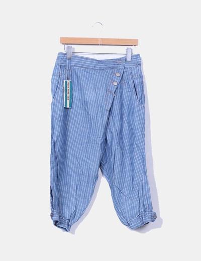 Pantalón harem fit beduino denim de rayas Pull&Bear