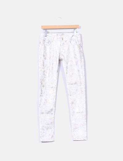 Jeans denim estampado dorado Nove & Nove
