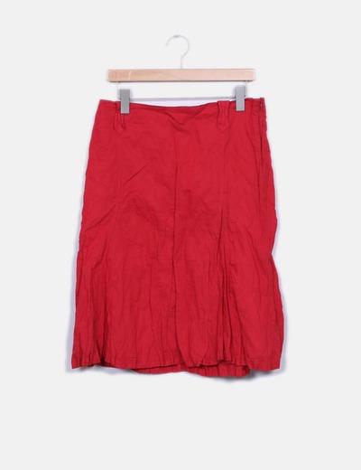 Falda midi roja African Blue