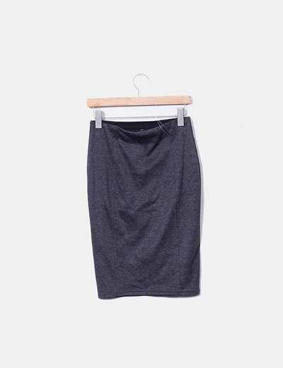Falda de tubo gris