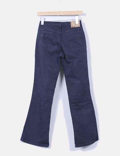 Pantalon campana azul marino
