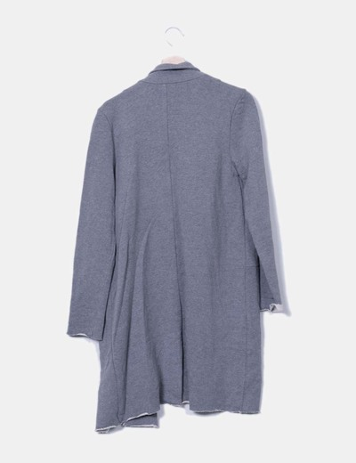 Abrigo gris corte recto