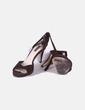 Sandalias pulsera marrones Zara
