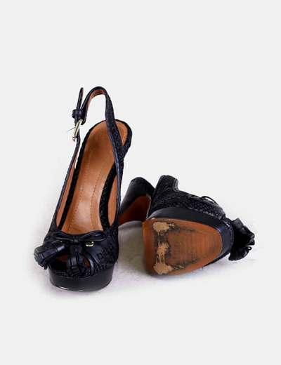 Sandalias Con Borlasdescuento 85micolet De Eh2dyeibw9 Zara Tacón Negras derxWBCo