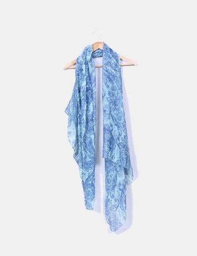 Pañuelo estampado tonos azules NoName