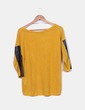 Jersey tricot color mostaza Bershka