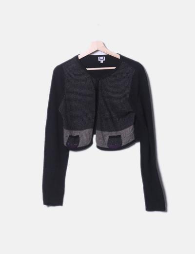 Jersey tricot combinado abotonado