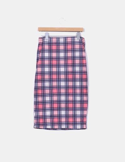 Falda de tubo de cuadros
