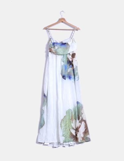 Maxi vestido de gasa estampado