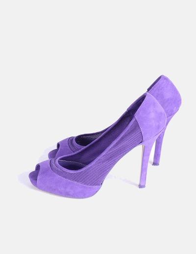 b779d12bc5c09 Bershka Zapato de tacón morado peep toe (descuento 74%) - Micolet