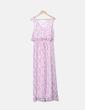 Maxi printed dress with ruffles Fórmula Joven