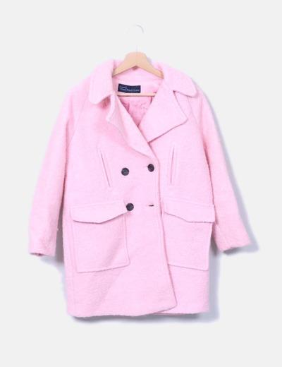 Chaquetón rizo rosa
