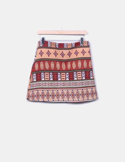 Minifalda estampado étnico