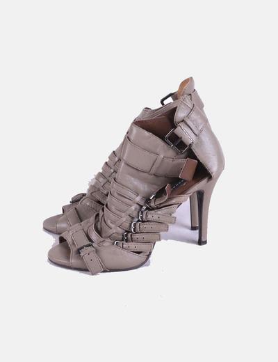 Zapatos hebillas taupé