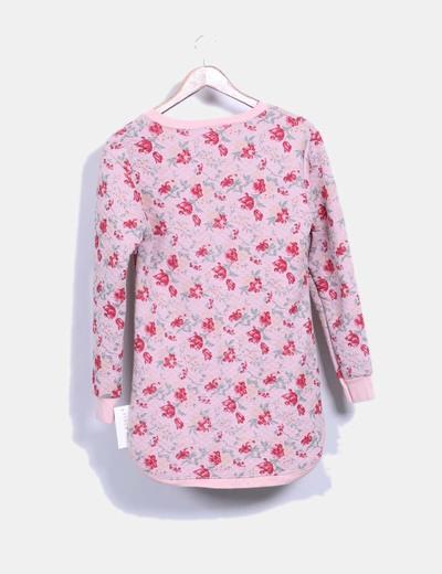 Vestido rosa estampado de flores