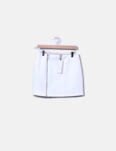 Minifalda blanca texturizada Sophyline  & Co