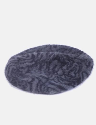 Boina de lana gris