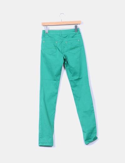 Pantalon elastico verde